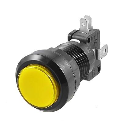 LED Light Push Button Switch Rectangular DC 12V Momentary 24mm x 19mm