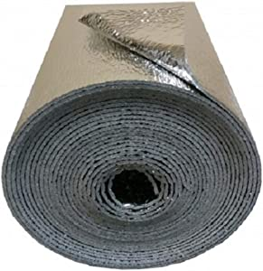 """NASATECH SSR Reflective Foam Core Insulation Kit: Roll Size 16""""x50' Includes 50' Foil Tape, Knife & Squeegee. Multipurpose Home Insulation For Your Building Project or Just Every Day Household Needs"""
