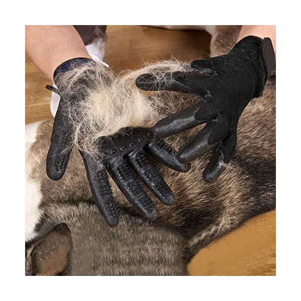 ChuangYe 2Pcs Pet Grooming Glove for Dogs Cats and Horses Pet Hair Remover and Massage Glove 2