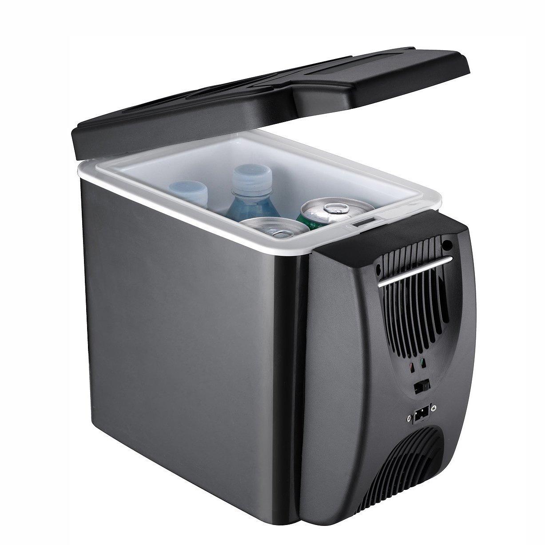 LT/&NT Refrigerador de Coche 6 litros port/átil Mini Nevera el/éctrica Caliente y fr/ía Caja 12V congelador para Viajes al Aire Libre Picnic Camping 2 Agujeros de enfriamiento