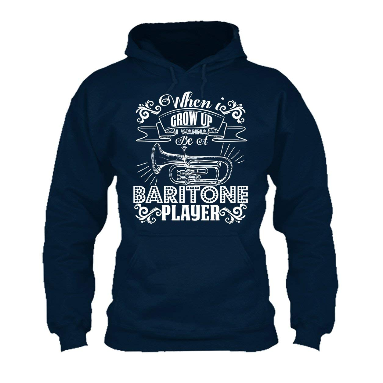 Cool Sweatshirt Hoodie Baritone Player Tee Shirt