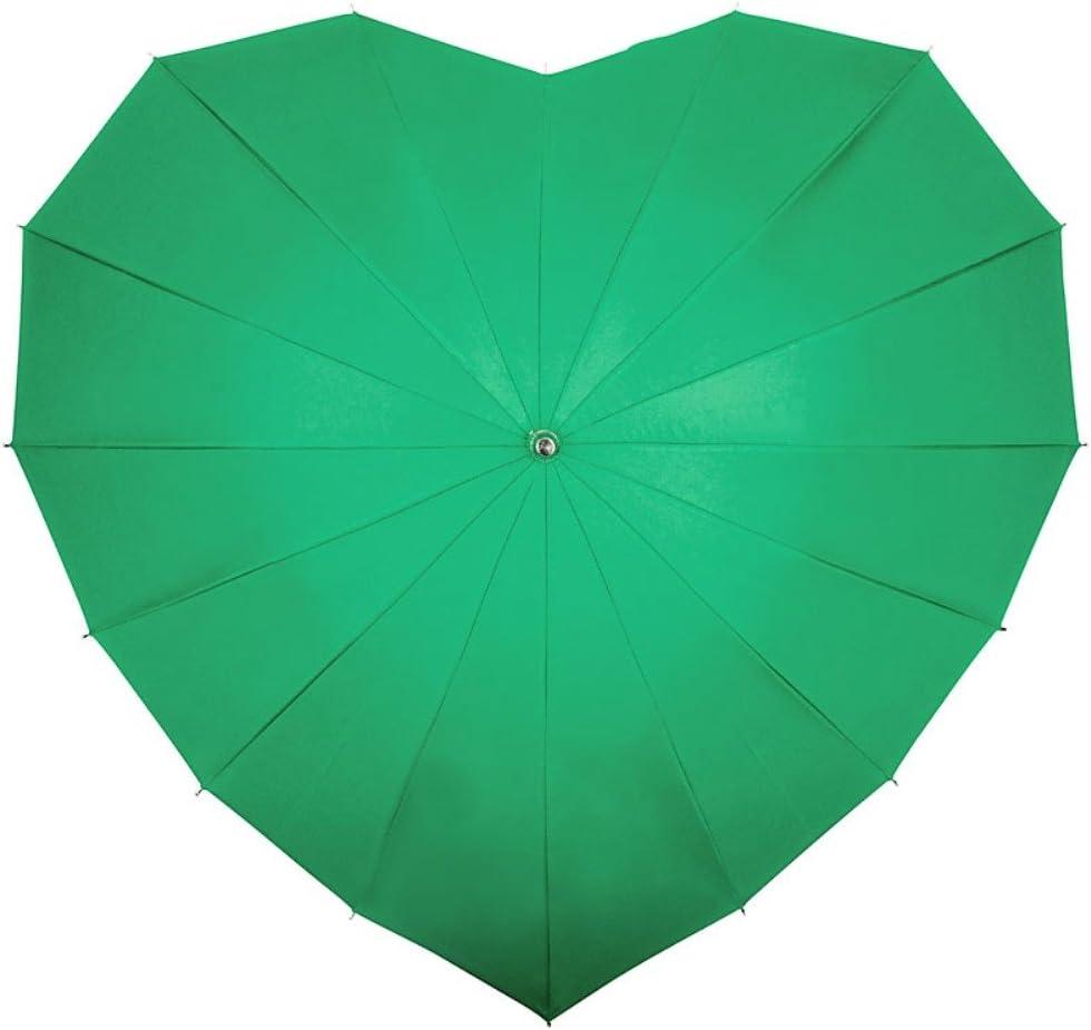 Von LILENFELD/® Ombrelle Parapluie Parasol Femme C/œur Vert