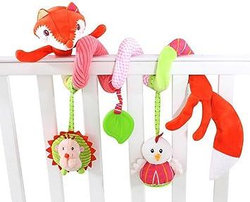 Baby Mobile hängende Rasseln Spielzeug Kinderwagen Krippe Spiral Plüschspielzeug