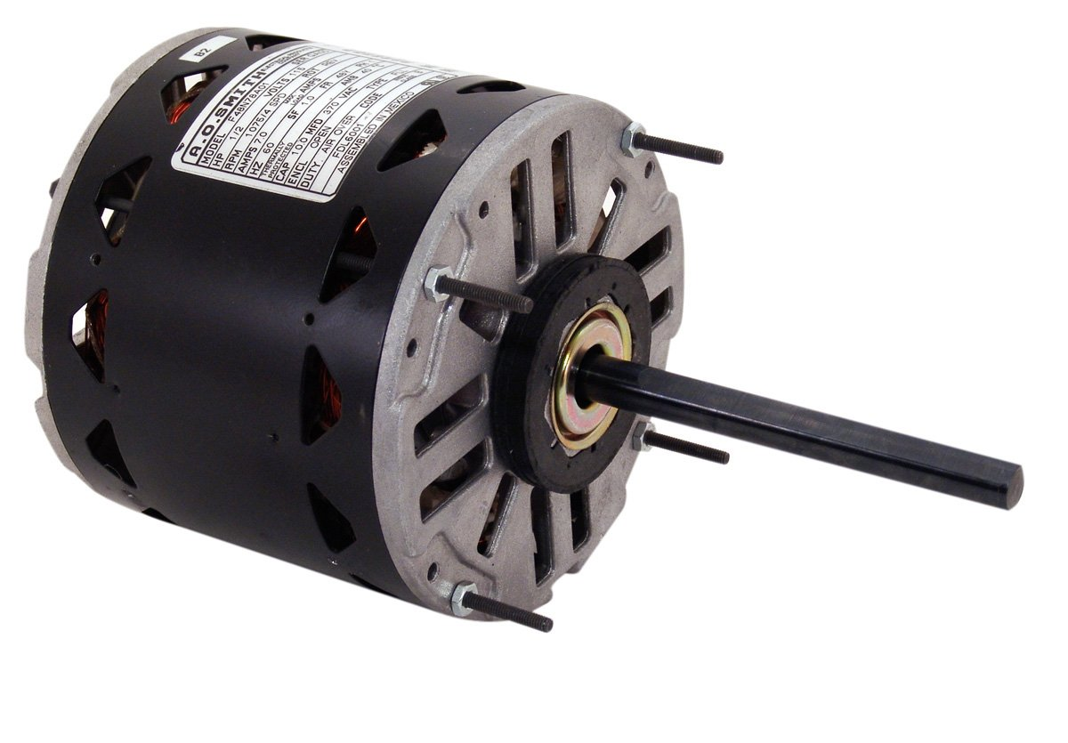 A.O. Smith FDL6002A 3/4-1/5 HP, 1075 RPM, 4 Speed, 115 Volts9.1 Amps, 48Y Frame, Sleeve Bearing Direct Drive Blower Motor