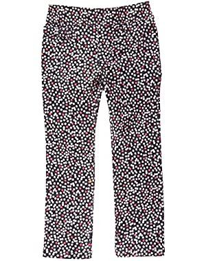 Baby Girls' Multi-Colored Dotted Corduroy Pant