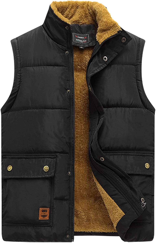 Men Quilted Hooded Gilet Waistcoat Jacket Coat Padded Puffer Sleeveless Warm