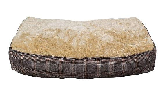 Colchoneta para perros XL extra gruesa, de efecto tweed, 100x70 cm, cama para perros lavable: Amazon.es: Productos para mascotas