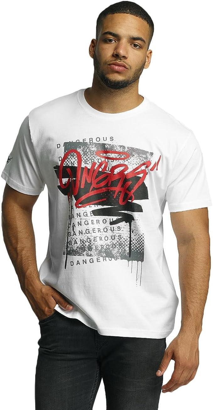 Dangerous dngrs scratchwork Camiseta blanca de los hombres - Blanco, 5XL: Amazon.es: Ropa y accesorios