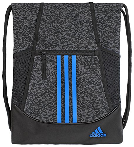 (adidas Alliance II Sackpack, Onix Pixel/Black/Bright Blue, One)