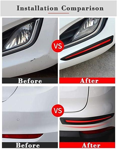 Poehxtyy 2 StÜcke Universal Anti Collision Patch Auto Stoßstange Schutzleiste Anti Scratch Stoßstangenschutz Garten