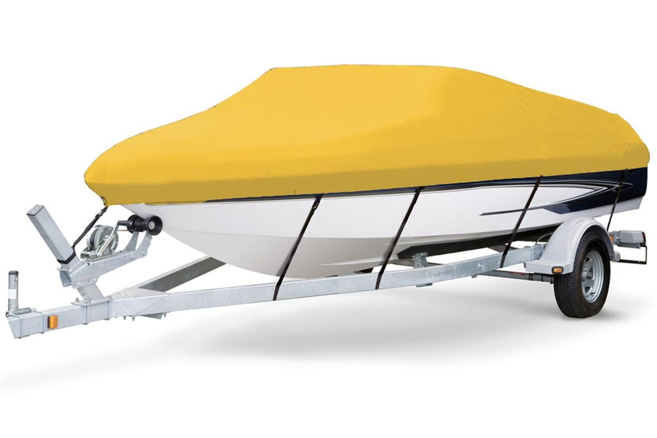 7 oz Solution Dyed Polyester Yellow, Styled to FIT Boat Cover for Monterey 197 Blackfin 2015-2016 by SBU-CV