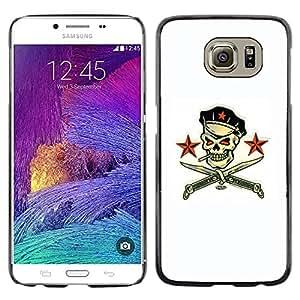Paccase / SLIM PC / Aliminium Casa Carcasa Funda Case Cover - Pirate Skull White Communist Russian - Samsung Galaxy S6 SM-G920