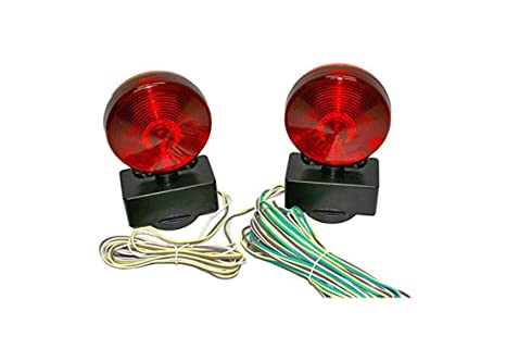 amazon com haul master 12 volt magnetic towing light kit automotive rh amazon com