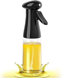 Oil Sprayer for Cooking - 210ml Olive Oil Dispenser Bottle Spray Mister - Food Grade Portable Reusable Oil Vinegar Spritzer Sprayer Bottles for Air Fryer, Kitchen, Salad, Baking, BBQ, Frying