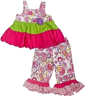 product image for Cheeky Banana Little Girls Allegro Babydoll Top & Capris Set Fuchsia