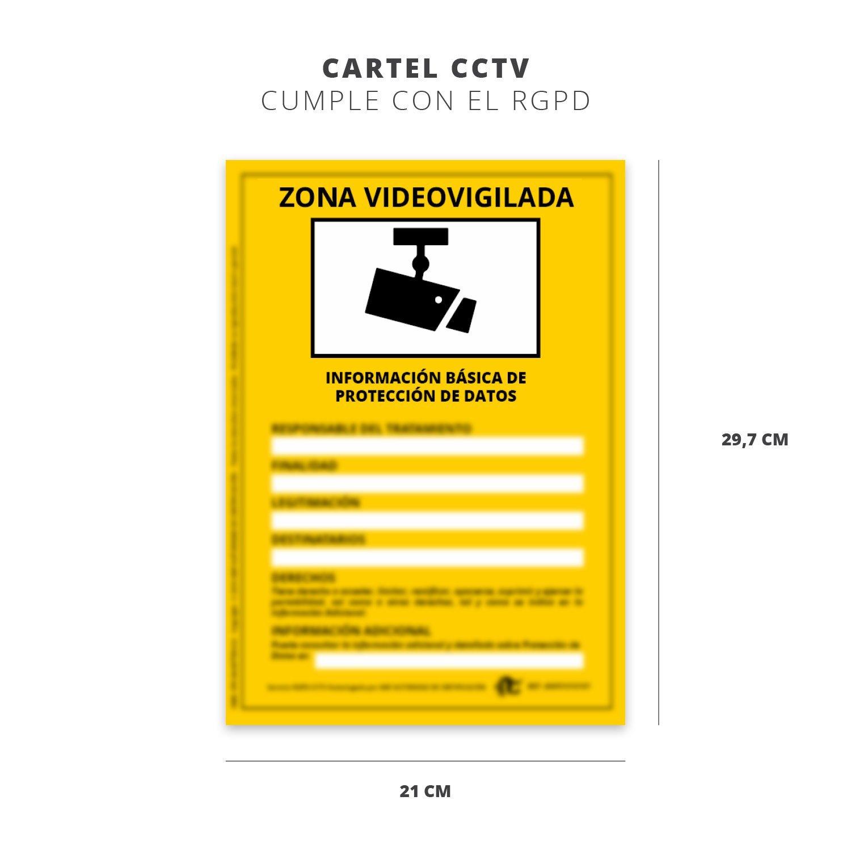 SEÑAL AVISO SISTEMA CCTV - GDPR -
