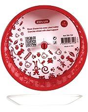 Zolux Ruota per Criceti con Piede in Metallo Color Ciliegia Cm. 12 per Roditori