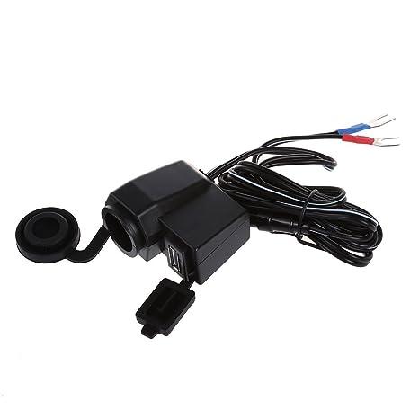 Cargador - TOOGOO(R) Negro 5V 1A USB Telefono 12V Cargador ...