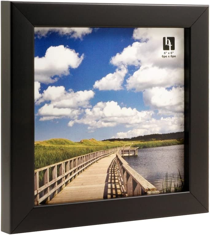 BorderTrends Echo 6x6-Inch Photo Frame Simply White
