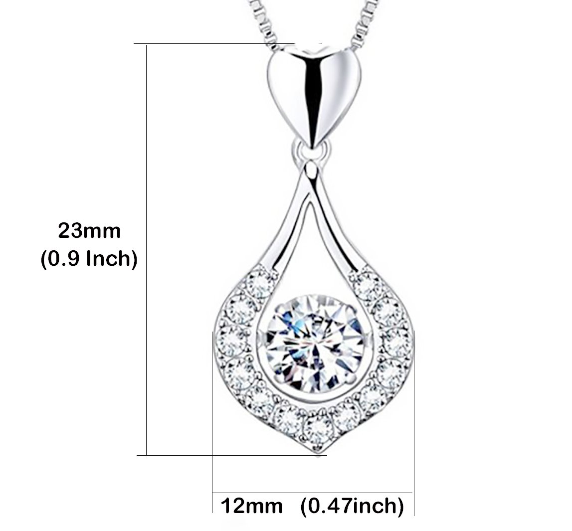 Stazzle New Dancing Love Necklace Original Silver beautiful Necklace by Pendant Necklace in a Jewelry gift box (Dancing Love)
