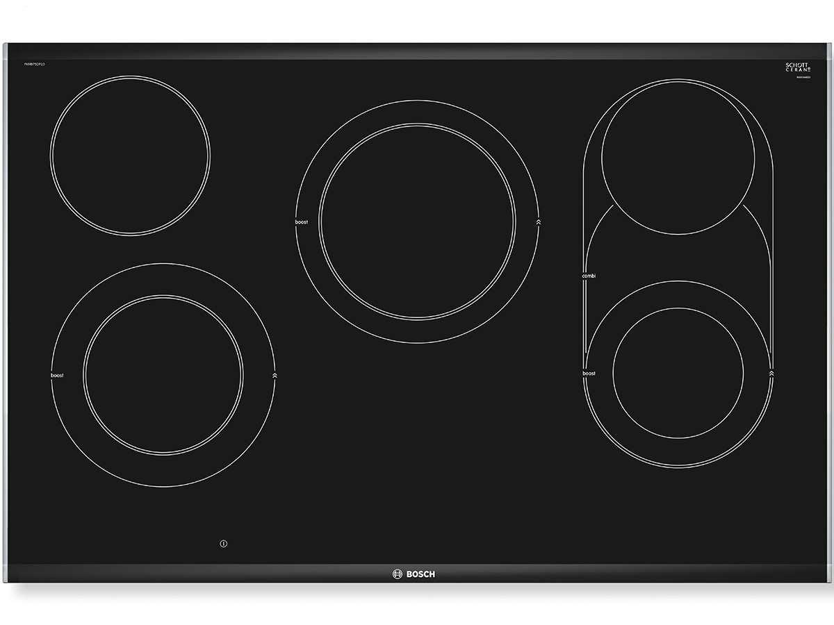Bosch Serie 8 PKM801DP1D hobs Negro, Acero inoxidable Integrado Cerámico - Placa (Negro, Acero inoxidable, Integrado, Cerámico, Vidrio y cerámica, ...