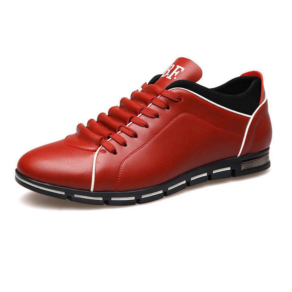 04a3f7862d3 Amazon.com: Leather Sneakers Men,SMALLE◕‿◕ Men Casual Shoes ...