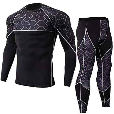 Men Compression Under Thermal Base Layer Workout Running Fitness Sports Clothes