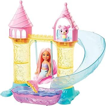 Barbie Dreamtopia Bambola Chelsea Sirena, Orsachiotto Merbear e