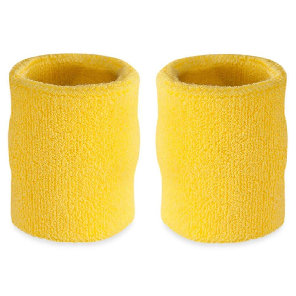 Suddora 4' Inch Sport Arm Sweatbands - Athletic Cotton Armbands Pair