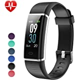 Willful Fitness Tracker IP68 Swimming Waterproof, Heart Rate Monitor Fitness Watch Sport Digital Watch with Color Screen Step Counter Sleep Tracker Call SMS SNS Notice, Smart Watch for Men Women Kids