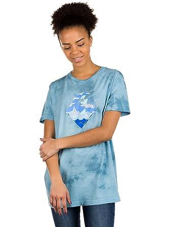 0ae5222a T-Shirt Women Pink Dolphin Waves PD Blue Tie Dye T-Shirt: Amazon.co ...