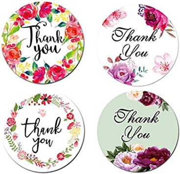 500Pcs Handmade Thank You Stickers Flowers Labels For Wedding Nice Party