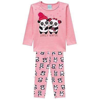 6574b7289 Pijama Infantil Feminino Blusa + Calça Kyly 206781.40061.1  Amazon ...