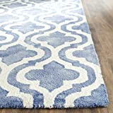 Safavieh Dip Dye Collection DDY537K Handmade Geometric Moroccan Watercolor Blue and Ivory Wool Area Rug (2'6