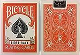 Orange Rider Back Bicycle Playing Cards Poker Size Deck USPCC