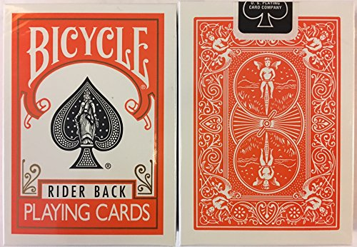 Orange Rider Back Bicycle Playing Cards Poker Size Deck USPCC by Bicycle