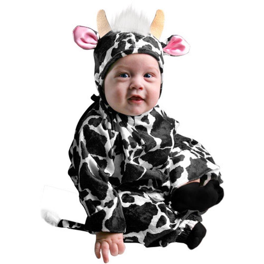 6a2d06bae Amazon.com: Infant Farm Animal Baby Cow Halloween Costume (6-18 Months):  Clothing