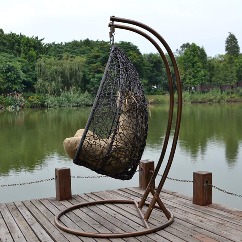 Home Deluxe de ratán sintético sillón colgante Twin XL, con ...