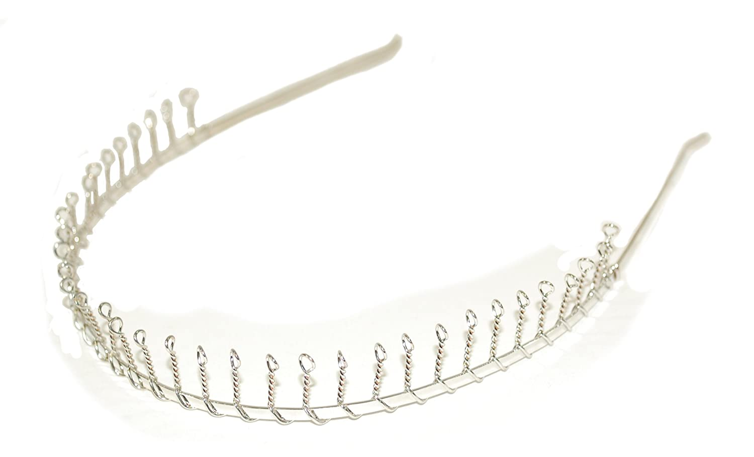 Silver Wire Comb Toothed Headband Hair Band Alice Band Ladies or Girls