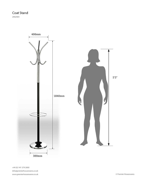 alba chromy coat tree. Premier Housewares Floor Standing Coat Stand With Umbrella Holder, 182 Cm - Black/Chrome: Amazon.co.uk: Kitchen \u0026 Home Alba Chromy Tree