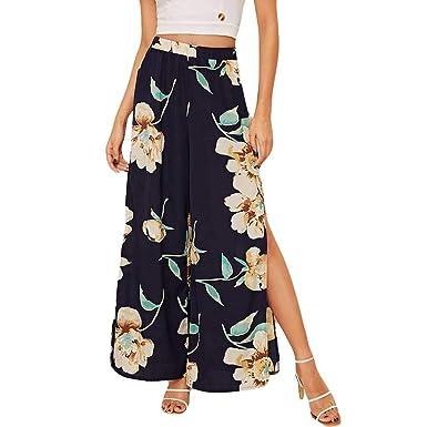 Botrong - Pantalones de chándal para Mujer, elásticos, con ...