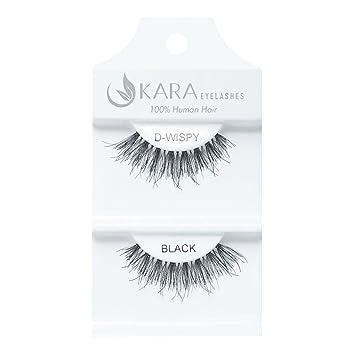 fce7c1fbe91 Amazon.com : Kara Beauty Human Hair Eyelashes - D-WISPY (Pack of 3) : Beauty