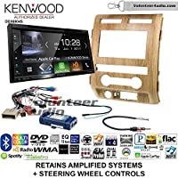 Volunteer Audio Kenwood Excelon DDX6904S Double Din Radio Install Kit with Satellite Bluetooth & HD Radio Fits 2009-2010 Ford F-150 (Ash Satin)