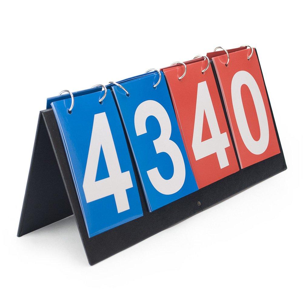 Gogo 4-Digital portátil Mesa Superior Marcador/puntuación Flipper 0–99