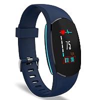 YoYoFit Egg Fitness Trackers Pulsmesser, Activity Armband Uhr, Blutdruck mit Helligkeit Anpassen, Pulsuhren Bluetooth Smart Watch, Schrittzähler mit Schlafmonitor, Kalorienzähler, IP67 Wasserdicht