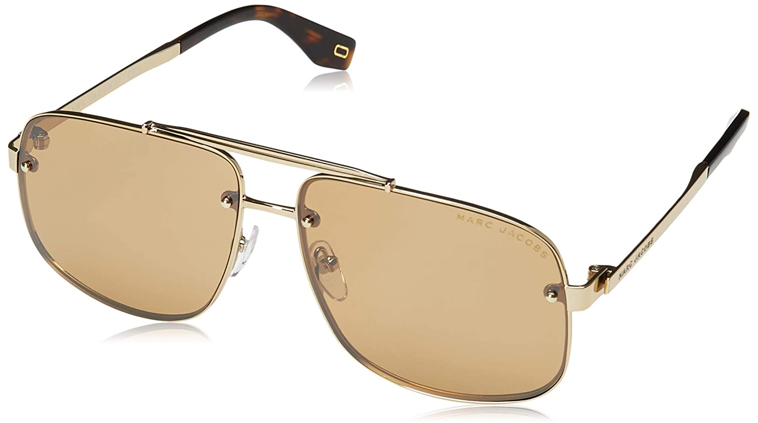 4006cbb6cf Amazon.com  Marc Jacobs Women s Marc 318 S Gold Silver Mirror One Size   Clothing