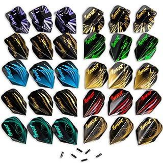 IgnatGames Dart Flights and Accessories - Sets of Different Shape Darts Flights and Flights Protectors, Darts Accessories Kit (Standard Shape)