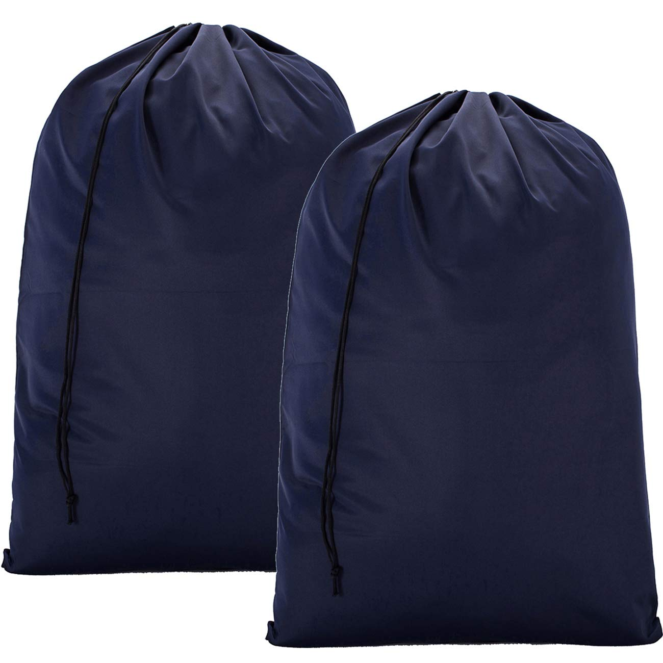 BGTREND 2 Pack Extra Large Travel Laundry Bag [28''×40''] Machine Washable Sturdy Rip-Stop Material with Drawstring Closure, Blue