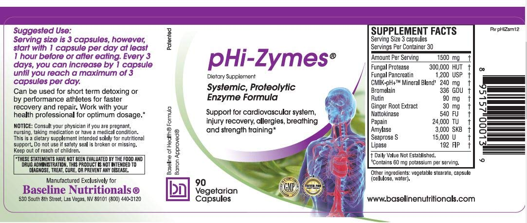Amazon.com: phi-zymes (sistémico enzimas proteolítica) 90 ...