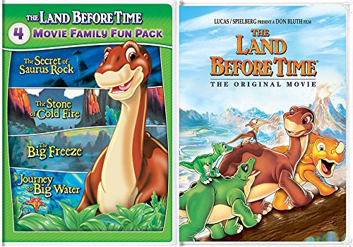 Land Before Time & The Land Before Time VI-IX 5-Movie Family Fun Pack (The Secret of Saurus Rock / The Stone of Cold Fire / The Big Freeze / Journey to Big Water) (The Land Before Time Invasion Of The Tinysauruses)